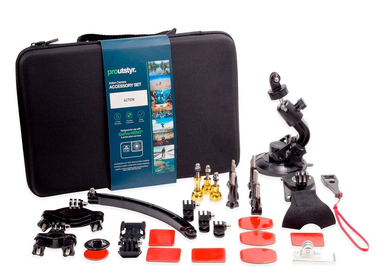 Action camera accessory set